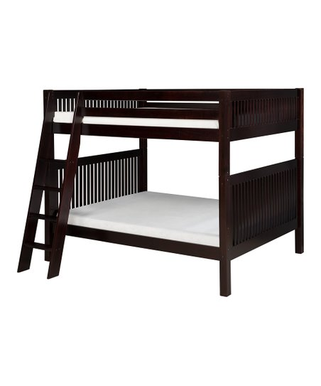 Cappuccino Mission Angle Ladder Full Bunk Bed