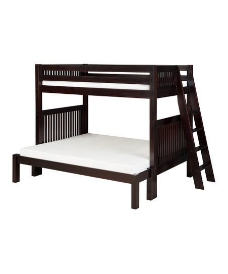 Cappuccino Mission Lateral Angle Ladder Twin & Full Bunk Bed