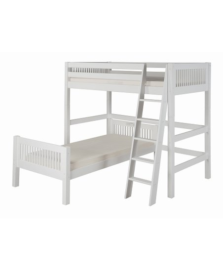 White Mission Twin Loft Bunk Bed