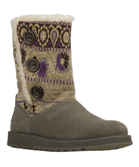 Gray Suede Cardigan Keepsakes Boot