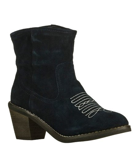 Navy Suede Tex Mex Aloft Boot