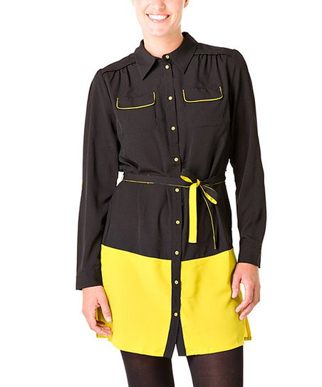 Black & Yellow Othilde Tunic