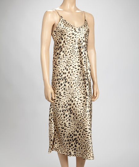 Brown Leopard Chemise - Women & Plus