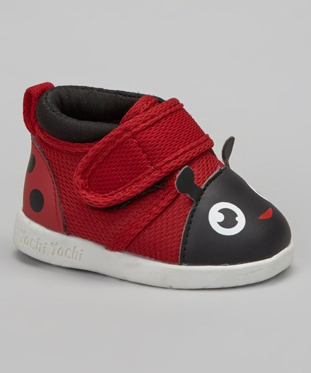 Red Miss Mushi Ladybug Squeaker Shoe
