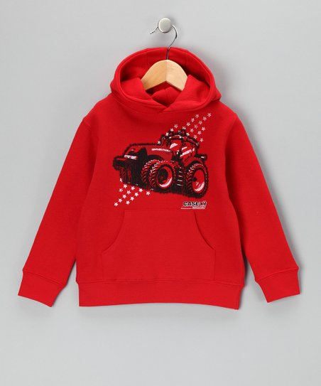 Red Tractor Star Pullover Hoodie - Toddler &amp; Boys