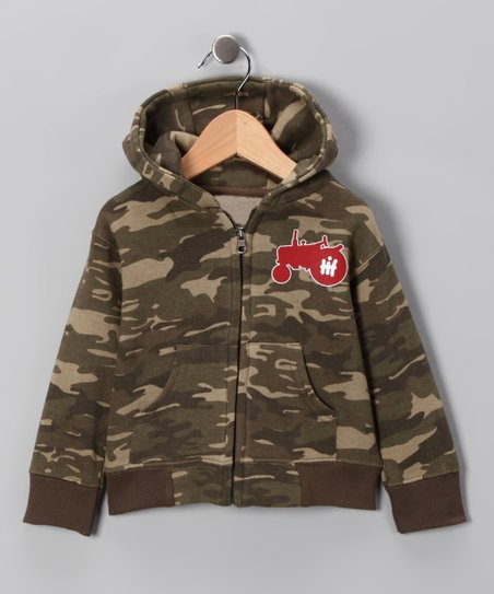 Camo & Red Tractor Zip-Up Hoodie - Infant