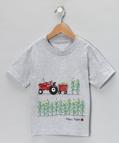 Heather Gray 'Heavy Haulin' Tee - Toddler & Boys