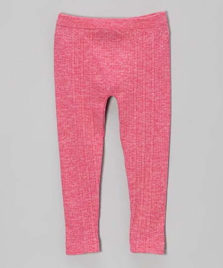 Fuchsia Ribbed Leggings - Toddler & Girls