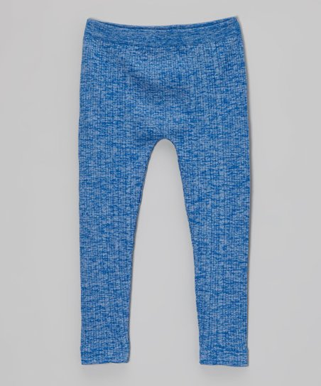 Cobalt Ribbed Leggings - Toddler & Girls