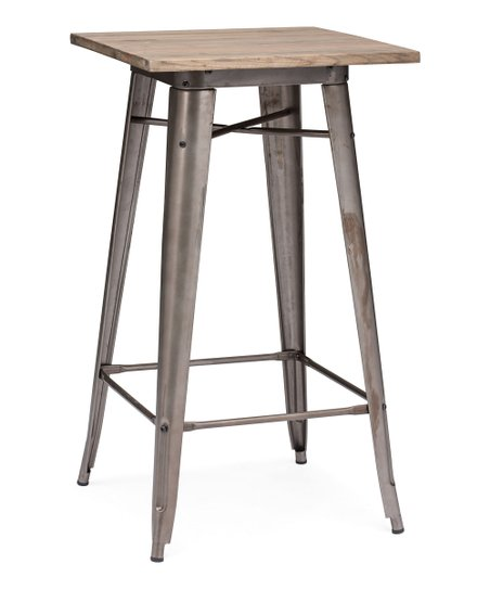 Rustic Wood Titus Bar Table