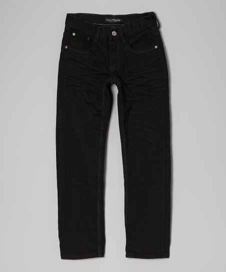 Black Straight-Leg Jeans - Boys
