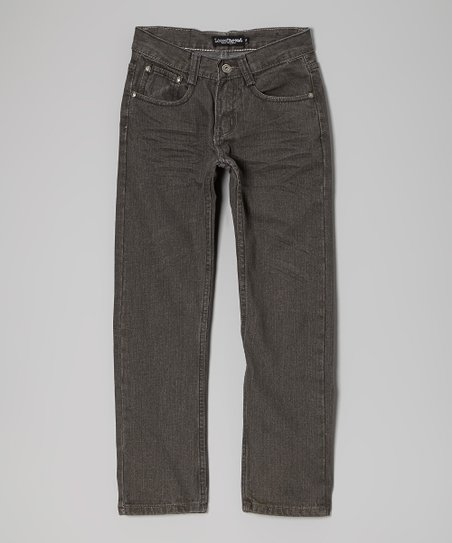 Medium Gray Straight-Leg Jeans - Boys