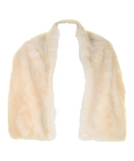 Cream Faux Fur Stole