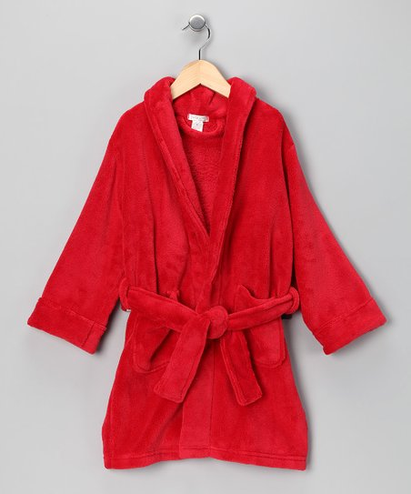 Red Plush Robe - Kids