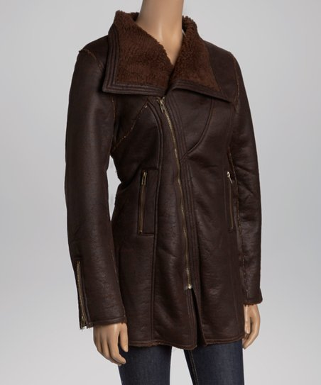 Espresso Faux Leather Jacket