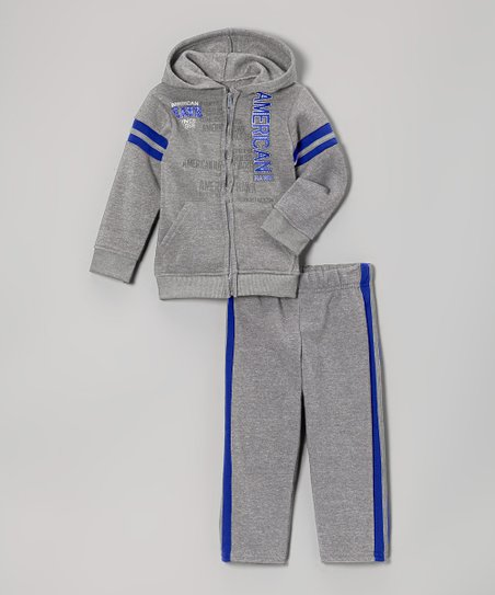 Heather Gray Zip-Up Hoodie & Track Pants - Infant & Toddler