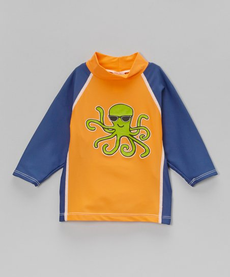 Navy & Orange Shades Rashguard - Infant, Toddler & Boys