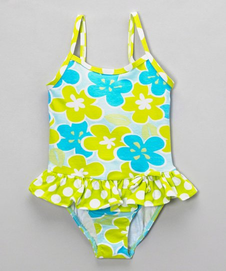 Lime Island Breeze Maillot One-Piece - Infant, Toddler & Girls