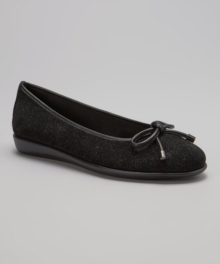 Black Frost Authorise Leather Flat