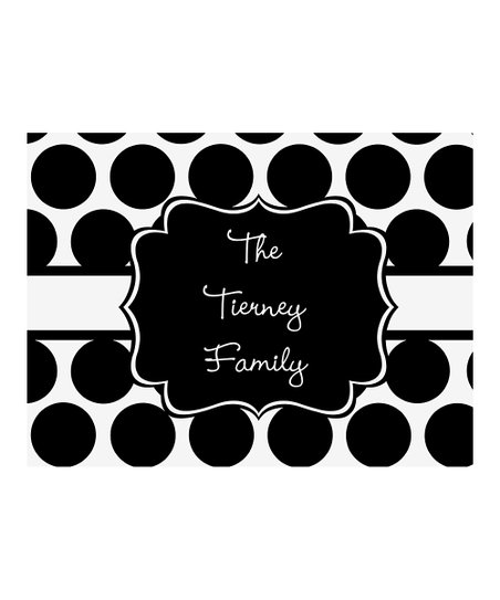 Black & White Polka Dot Small Personalized Cutting Board