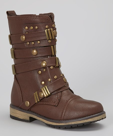 Brown Buckle Alisia Boot