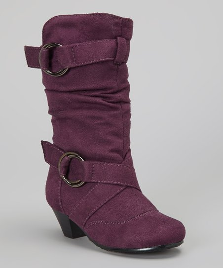 Purple Faux Suede Pauline Boot