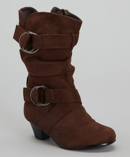 Brown Faux Suede Pauline Boot