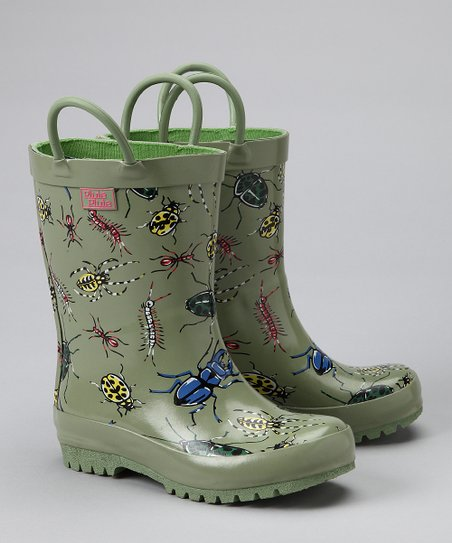 Green Bug Rain Boot