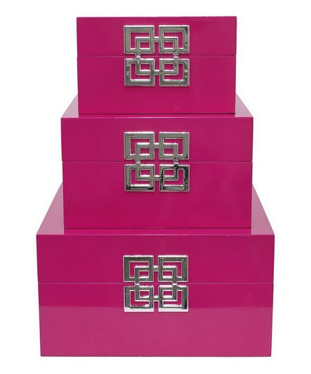 Fuschia Box - Set of Three