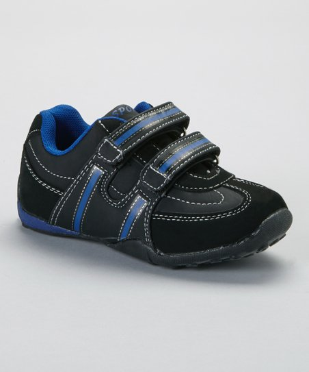 Black & Royal Contrast-Stitch Sneaker