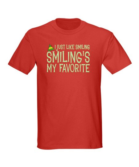 Red 'Smiling's My Favorite' Tee - Men