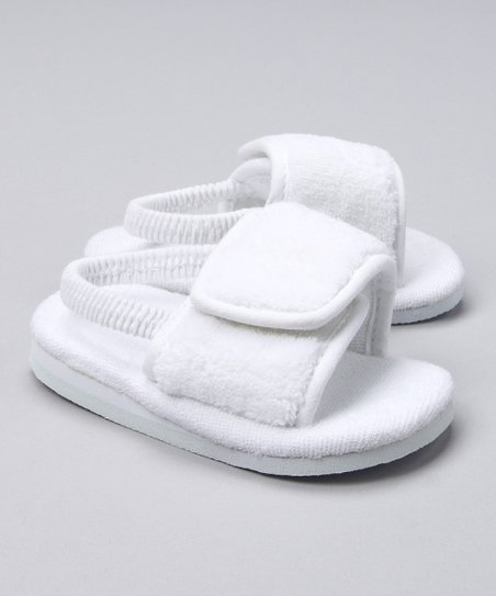 White Velour Spa Slipper