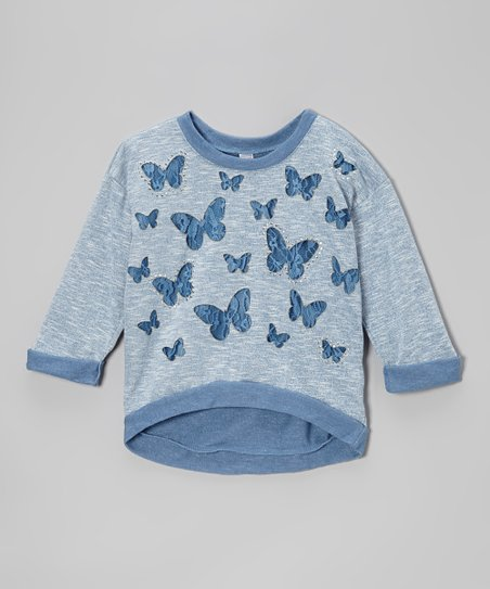 Blue Butterfly Top