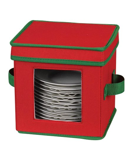 Red & Green Holiday Saucer Chest
