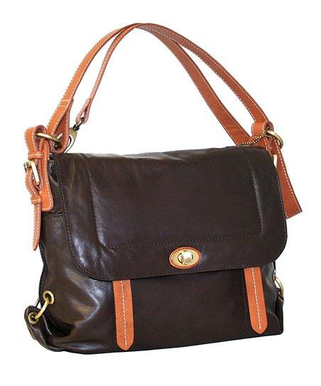 Chocolate Euro Messenger Bag