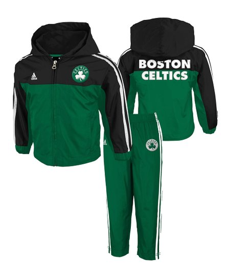 Green & Black 'Celtics' Zip-Up Jacket & Pants - Infant & Boys