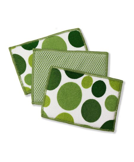Cactus Polka Dot Microfiber Sponge - Set of Six