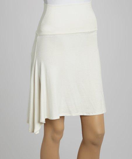 Ivory A-Line Skirt
