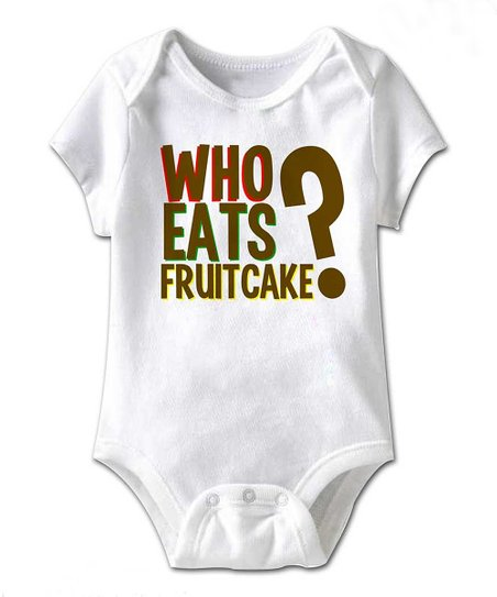 White 'Fruitcake?' Bodysuit - Infant