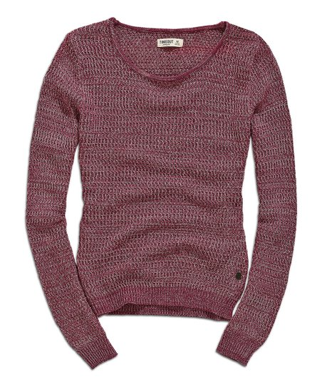 Maroon Rose Knit Sweatshirt