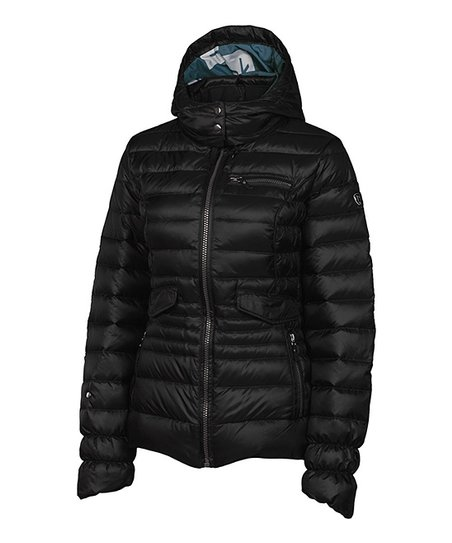 Black Stevie Down Puffer Jacket - Women