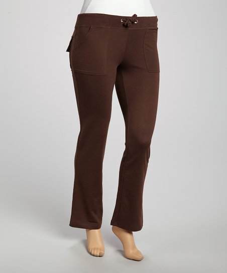 Brown Lounge Pants - Plus