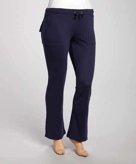 Navy Lounge Pants - Plus