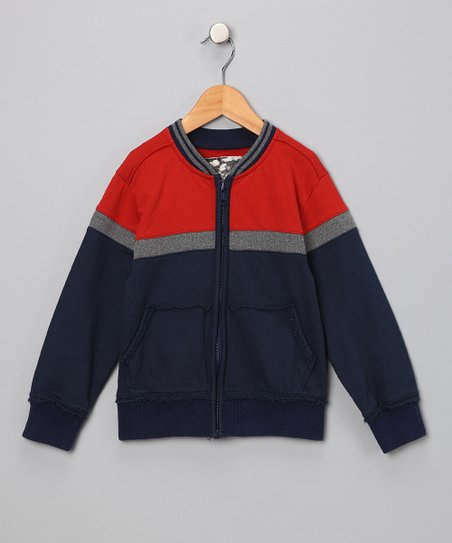 Brick & Army Navy Block Jacket - Toddler & Boys