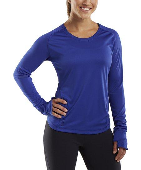 Electric Blue Discipline Long-Sleeve Top – Women