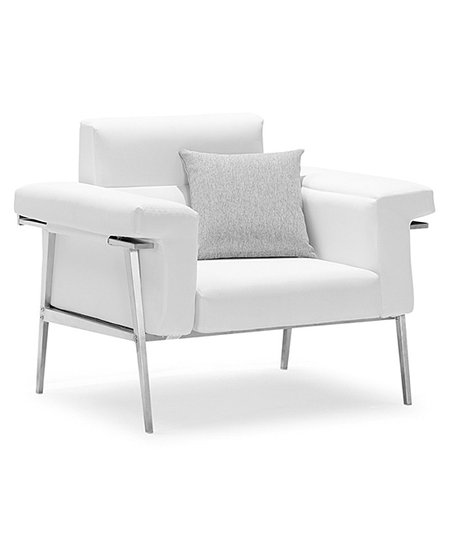 White Eden Single Sofa