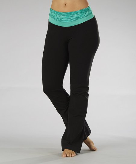 Peacock Green Yoga Pants