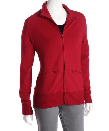 Red Riah Zip-Up Jacket