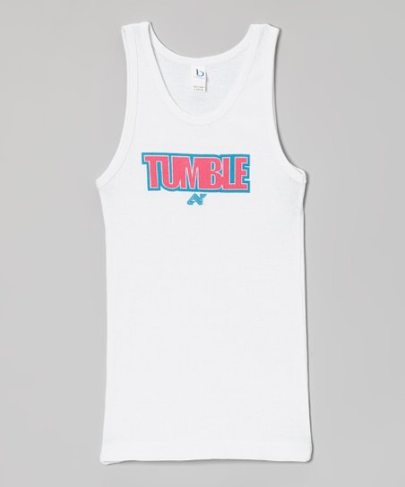 White 'Tumble' Tank – Girls & Women