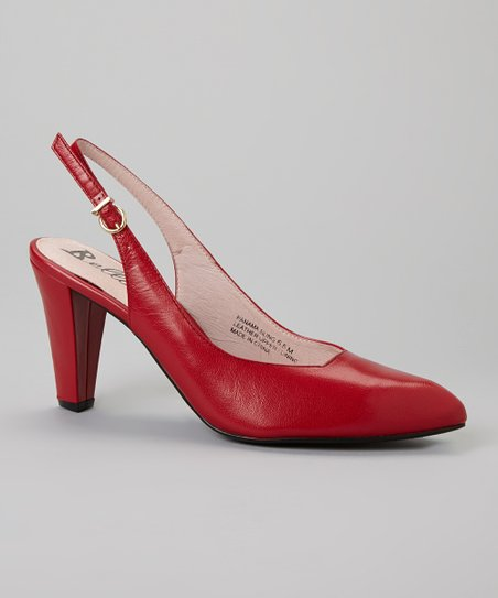 Red Panama Leather Slingback